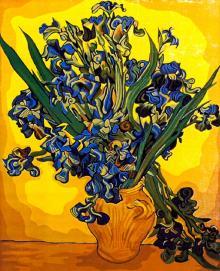 """Рисование по номерам ""Ирисы. Ван Гог"" (40х50 см) (G024 ..."