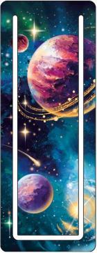 """Закладка для книг """"Галактика"""", картонная, с вырубкой (57394)"""